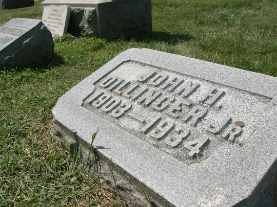 The grave of notorious criminal John Dillinger sits