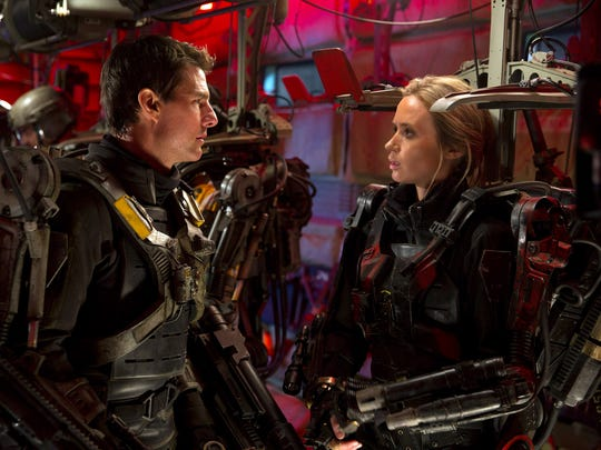 "Tom Cruise and Emily Blunt star in ""Edge of Tomorrow"" (2014)."
