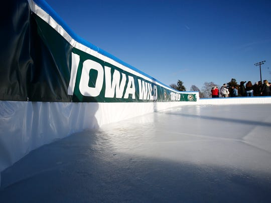 The Indianola Ice Rink is located on Field 1 at Pickard Park on the east side of Indianola. The public ice rink is the result of a partnership between the Iowa Wild and Wells Fargo in the fall of 2018.