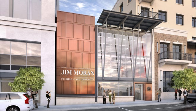 This is a rendering of the new FSU Jim Moran Building planned for downtown Tallahassee.