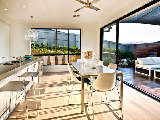 Erasing boundaries between the interior and exterior is a dreamy, homey, casual trend that families go gaga for.