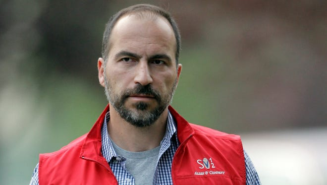 In this July 13, 2012, file photo, Dara Khosrowshahi the CEO of Expedia, Inc., attends the Allen & Company Sun Valley Conference in Sun Valley, Idaho. Two people briefed on the matter said that Khosrowshahi has been named CEO of ride-hailing giant Uber Technologies Inc.