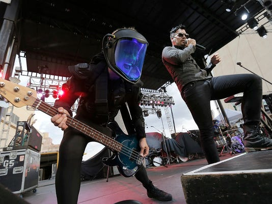 Starset brought the intensity during their set Saturday night at the El Paso Downtown StreetFest. The night was capped off by Weezer.
