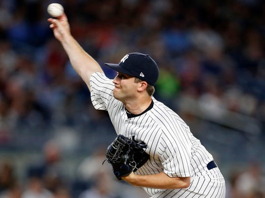 New York Yankees relief pitcher Adam Warren.