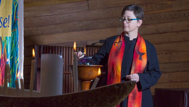 The Unitarian Society invites the greater community to attend the installation ceremony of its seventh settled minister, the Rev. Karen G. Johnston, at 4 p.m. April 30.