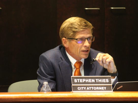City Attorney Stephen Thies said he's currently working