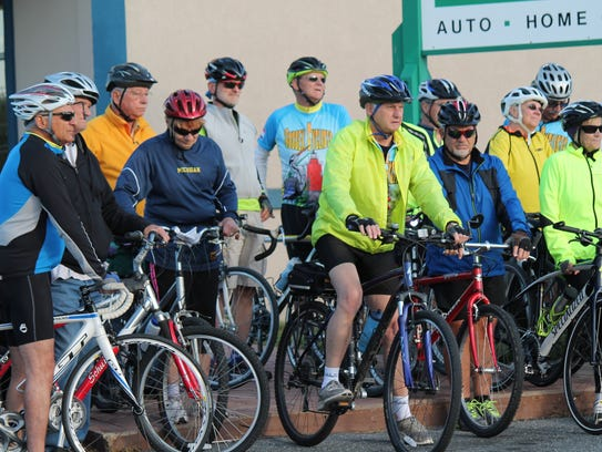 About 30 cyclists took to Route 1 earlier this month