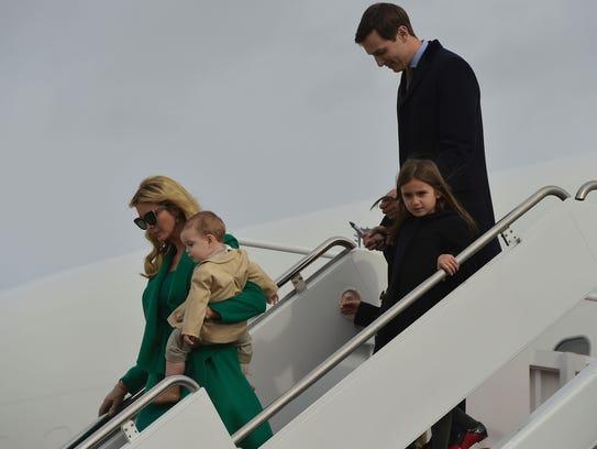 Ivanka Trump, husband Jared Kushner and their children, arrive via ...