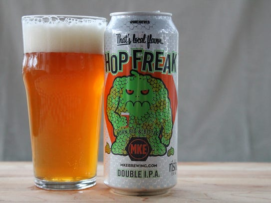 Hop Freak, double IPA, Milwaukee Brewing