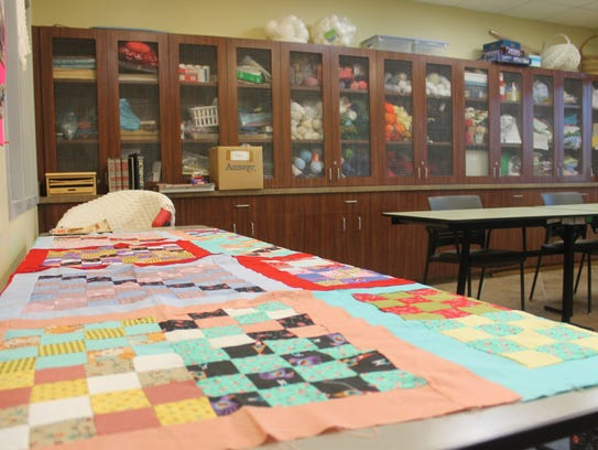 The craft room is just one of the many amenities offered