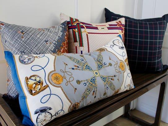 More pillows designed by Kari Hershey.