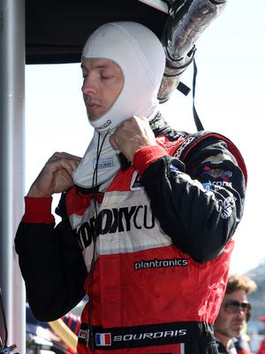Sebastien Bourdais prepared to practice Friday for Sunday's IndyCar Grand Prix at The Glen auto race.  A report Saturday said Bourdais would leave KVSH after this season.