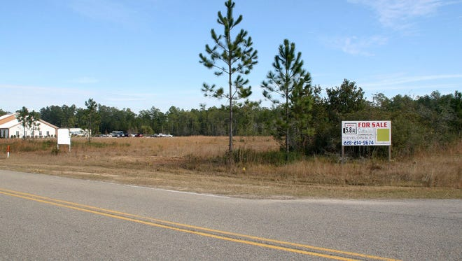 Pearl River Community College's future site of a new college at Stennis International Airport, located near Hancock High School.