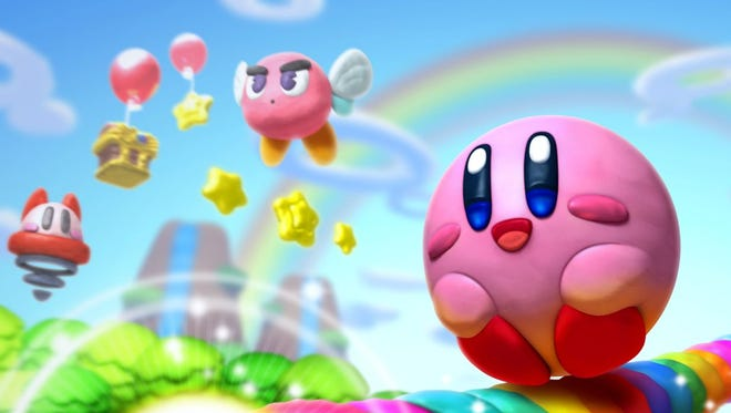 """Use a magical brush to draw lines and guide everyone's favorite Star Warrior in """"Kirby and the Rainbow Curse."""""""