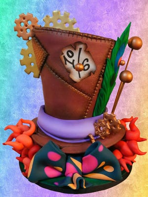 A Mad Hatter's Cake made by Timbo Sullivan will be displayed at the ICES Convention.