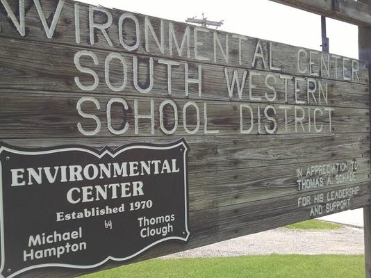 Students at Emory H. Markle Intermediate School celebrated Earth Day today at South Western School District's Environmental Science Center.