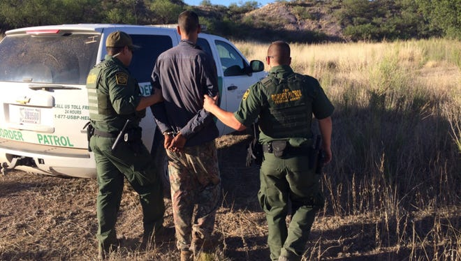 Four people were arrested at the camp, U.S. Customs and Border Protection said.