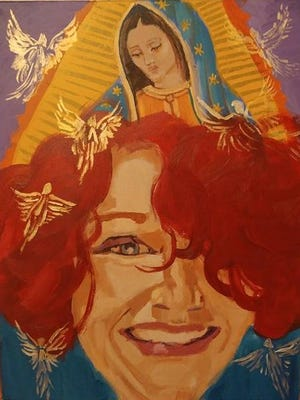 Portrait of Julia Madeline Lowy (1967-2016) by Lesley Morrow