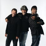 The members of Alabama (from left, Jeff Cook, Randy Owen and Teddy Gentry) will be inducted into the Nashville Songwriters Hall of Fame in October.