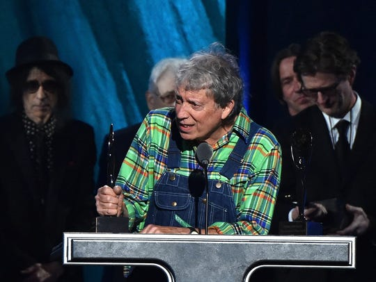 Elvin Bishop speaks in Cleveland during the Rock And