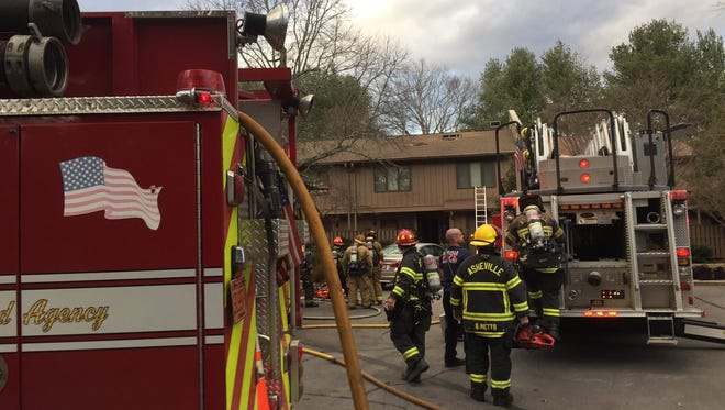 A fire broke out Jan. 12 at the Crowfield Condominiums in South Asheville.