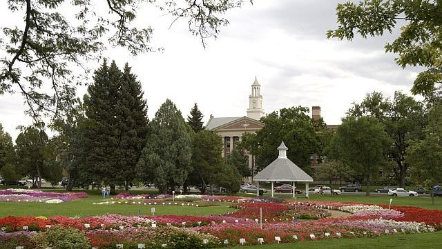 The University Center for the Arts with the Trial Gardens in the foreground, Colorado State University