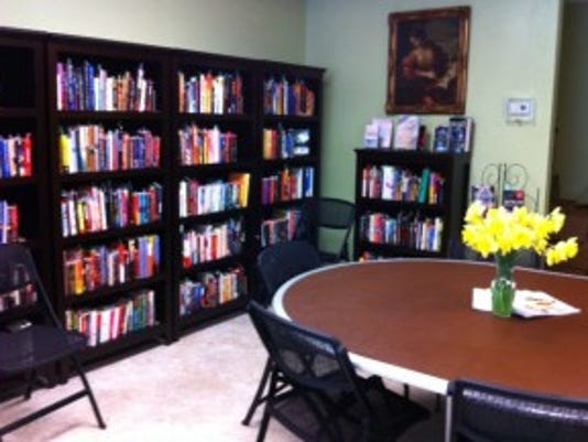 A round table provides space for book discussion groups. (Submitted photo)
