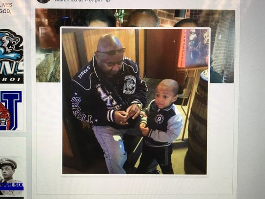 Retired Byram Sgt. Eddie Smith and his 3-year-old grandson