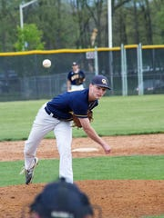 Greencastle-Antrim's Myles Gayman will likely start on the mound for the Blue Devils in the MPC tournament semifinal, Tuesday.