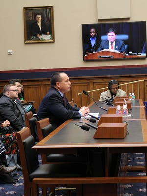 Tony Dearman, director of the U.S. Bureau of Indian Education, is shown testifying before the Subcommittee on Early Childhood, Elementary, and Secondary Education in February.