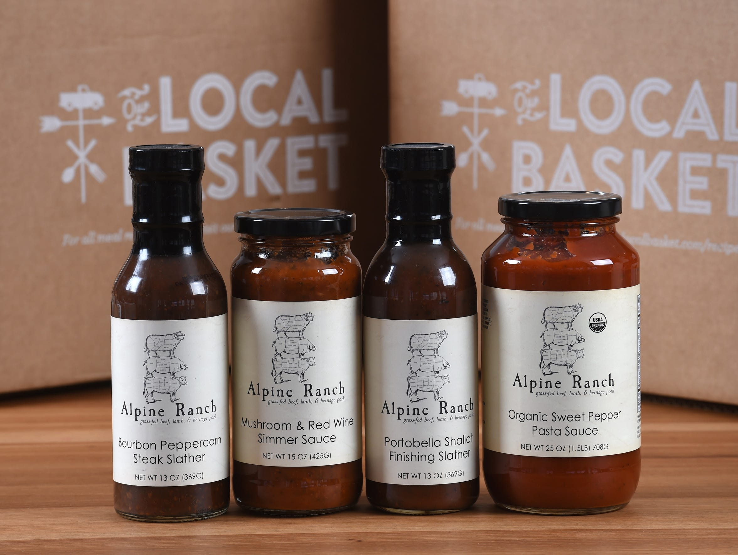The add-on products for Our Local Basket meal delivery
