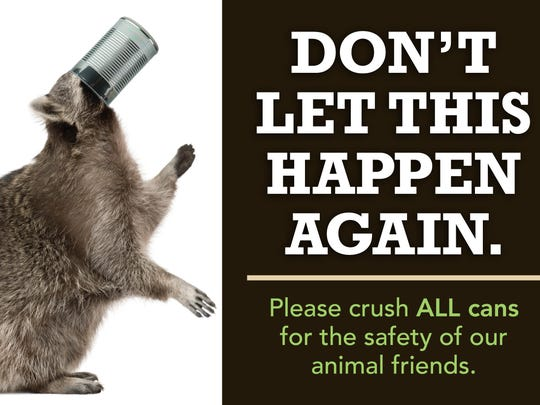 PETA wants Miami University to post these posters on recycling bins around campus.