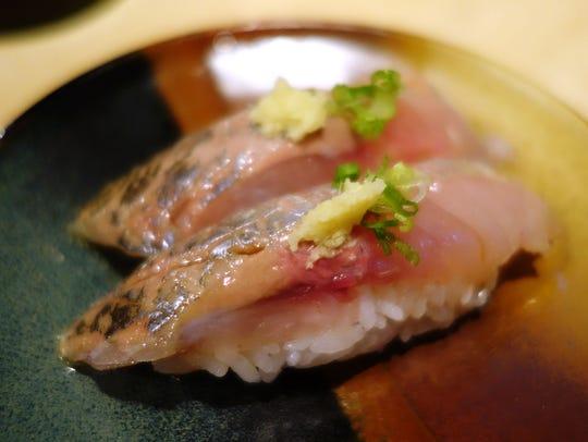 Aji Nigiri at Toyama Restaurant.