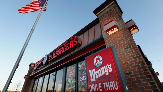 File photo taken in 2014 shows a Wendy's restaurant in Providence, R.I.