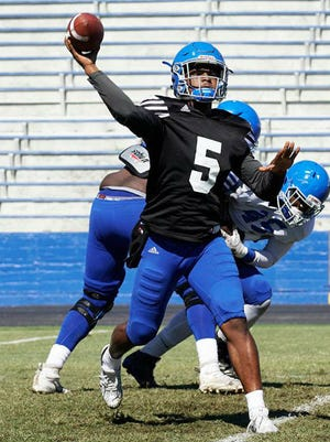 Treon Harris, a transfer from Florida, was named Tennessee State's starting quarterback by coach Rod Reed on Saturday.