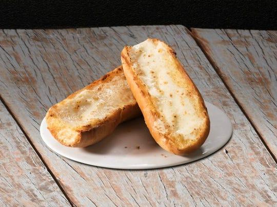 Toast on a plate.