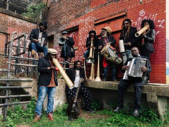The Haitian group Lakou Mizik plays a show Tuesday