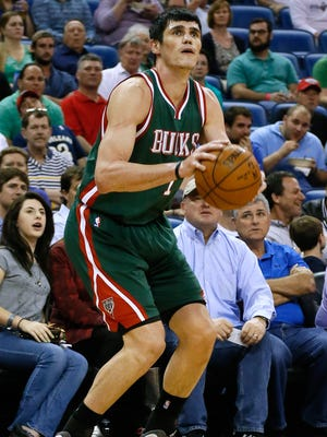 Milwaukee Bucks forward Ersan Ilyasova shoots the ball against the New Orleans Pelicans on March 17, 2015, in New Orleans.