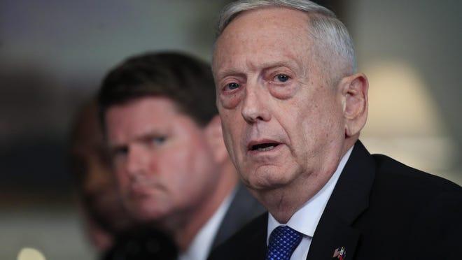 Outgoing Defense Secretary Jim Mattis