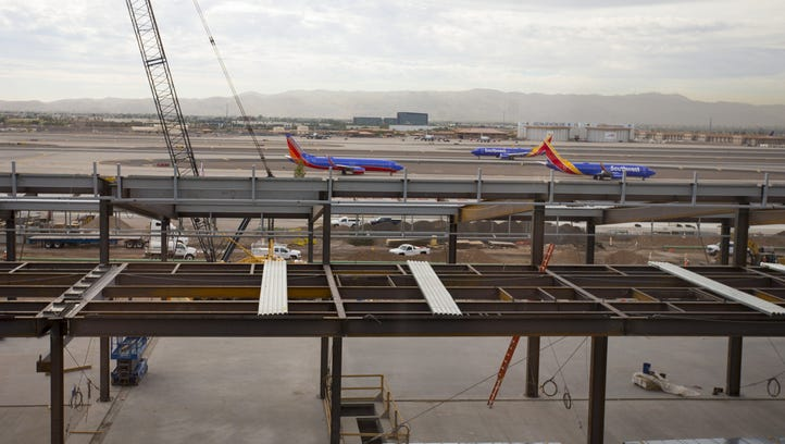 Construction continues on and around terminal 3 at