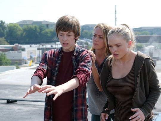 Percy Hynes White, from left, Amy Acker and Natalie Alyn Lind star in 'The Gifted.'