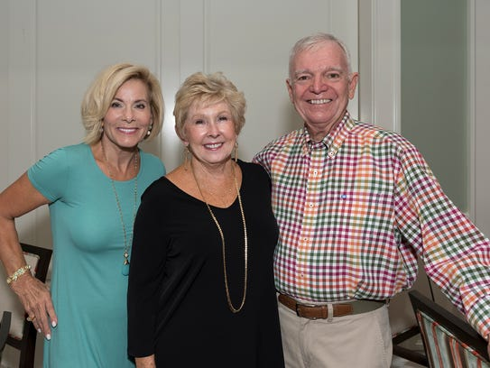 Jill Ash, left, Barbara Flowers and Garry Ash at the