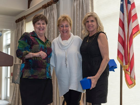 Alzheimer's Community Care CEO Mary Barnes, left, with