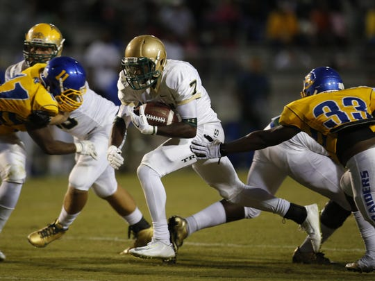 Lincoln running back Ricky Henrilus is coming off a 214-yard, four-touchdown game as the Trojans (4-6) enter the playoffs to face Jacksonville Lee (7-3).
