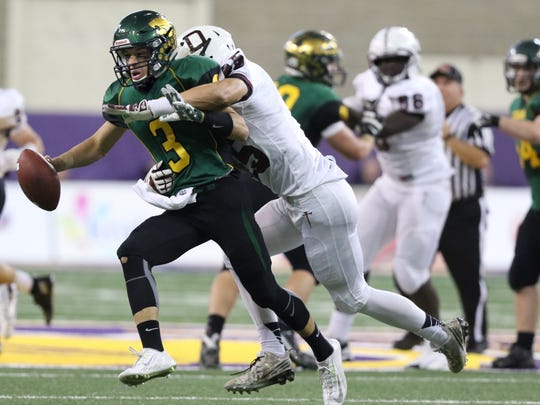 Jacob Hummel of Dowling Catholic sacks Cedar Rapids