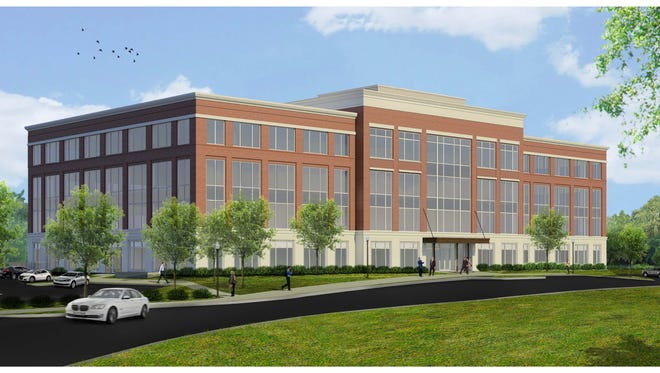 A rendering of the planned office building at Berry Farms, which Alfa Insurance will anchor.