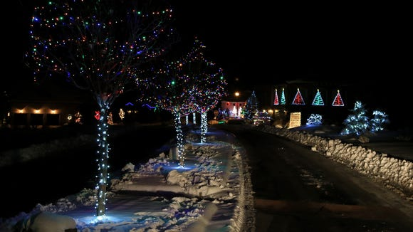 "Fairview Drive leads to ""Christmas Lane,"" a loop of"