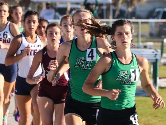 Fort Myers runner Krissy Gear won  the Girls 1,600