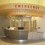 Patients not arriving by ambulance will begin their treatment at this reception desk in the new Kettering Health Network Emergency Center in Eaton, Ohio. It opens Aug. 24. This is the first 24-hour emergency care center in Preble County, Ohio's history.