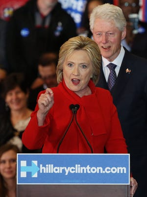 Hillary and Bill Clinton in Des Moines on Feb. 1, 2016.